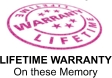 Lifetime Warranty on these memory